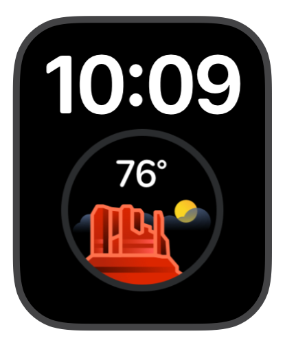 X-Large watchface from Weather mini
